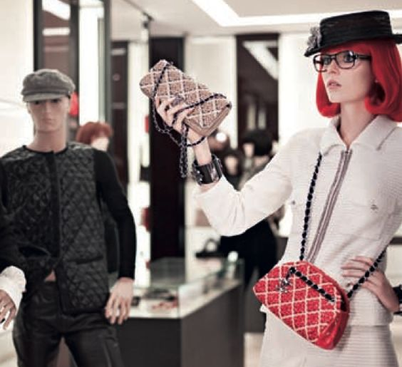 Chanel - Window World.   real life models among mannequins!