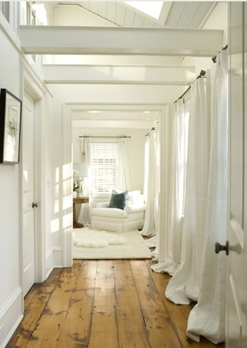 wide plank wood floors.