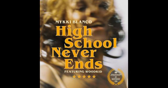 """Listen to """"World First: Mykki Blanco - """"High School Never Ends"""""""" posted by Zane Lowe on Apple Music."""