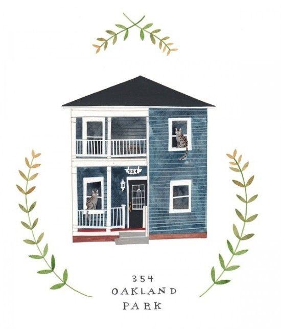액자에 담고싶은 예쁜 그림 하우스 네이버 블로그 디자인 일러스트 그림 수채화 삽화