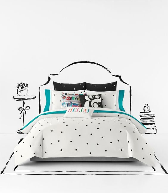 and kate spade charm of this cute black and white bedroom d cor
