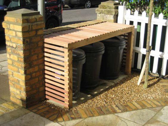 discrete bins outside house - Google Search