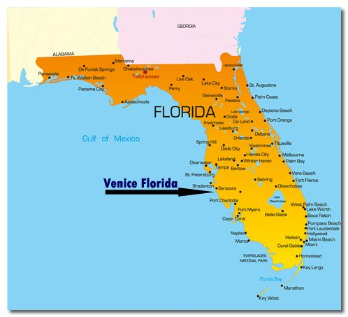 florida map showing venice