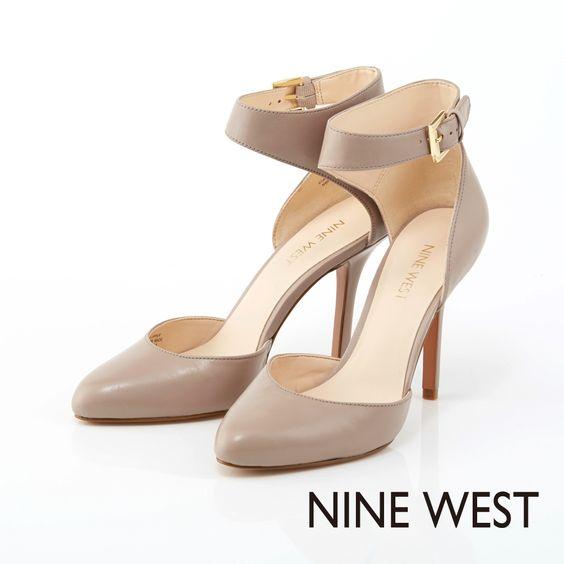 +NINE WEST 奧黛麗赫本風情 性感繞踝高跟鞋 - 氣質灰褐 - Yahoo!奇摩購物中心