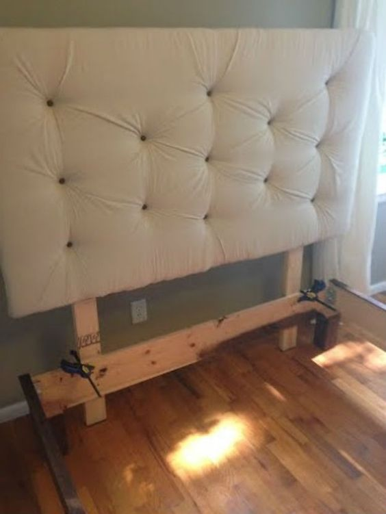 diy headboards diy bed frame and diy upholstered headboard on pinterest. Black Bedroom Furniture Sets. Home Design Ideas
