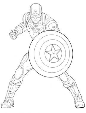 Avengers Captain America Coloring Page From Marvel S The Avengers