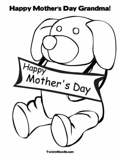 Mothers Day Coloring Pages Grandma Mother's Day