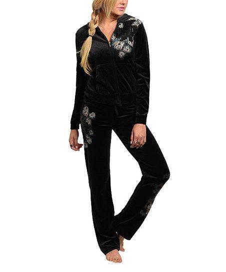 Black Track Jacket & Pants   zulily