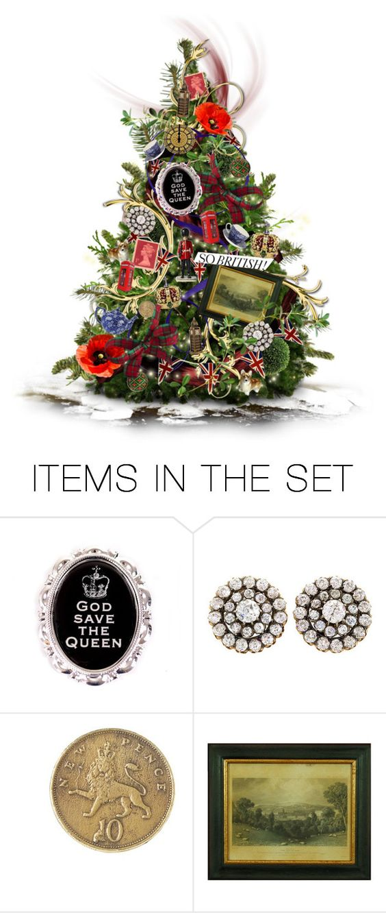 """Have Yourself A Very British Christmas"" by amethystvisions ❤ liked on Polyvore featuring art"