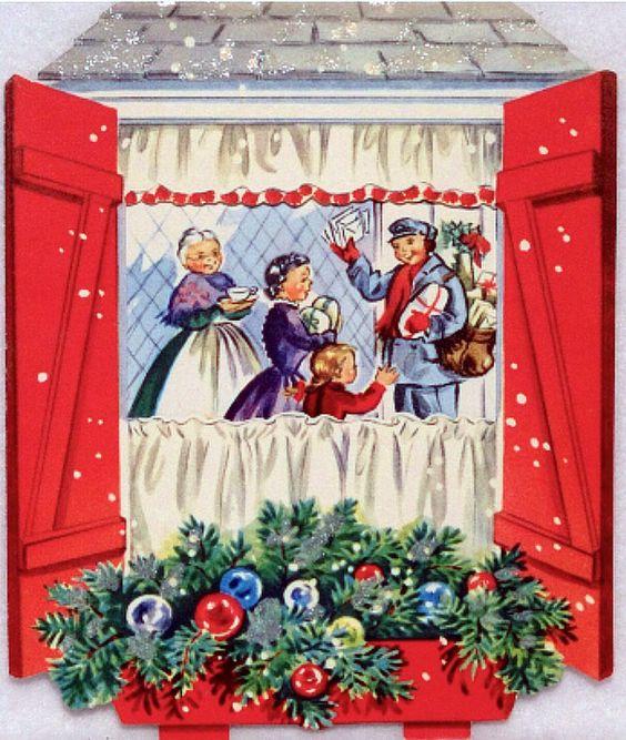1950's-Vintage Christmas Card...: