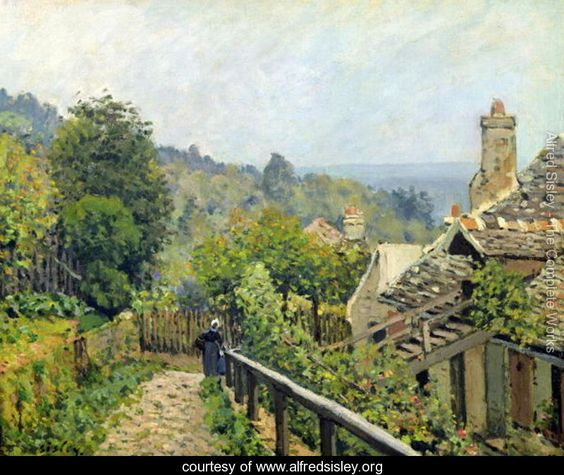 Louveciennes or, The Heights at Marly, 1873 - Alfred Sisley - www.alfredsisley.org