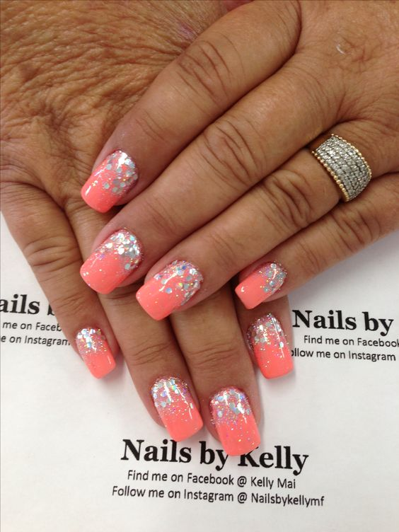 Neon rock star gel nails