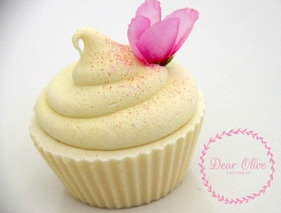Vegan coldprocess soap cupcake   Sweet Meyer by DearOliveHandmade, $8.50