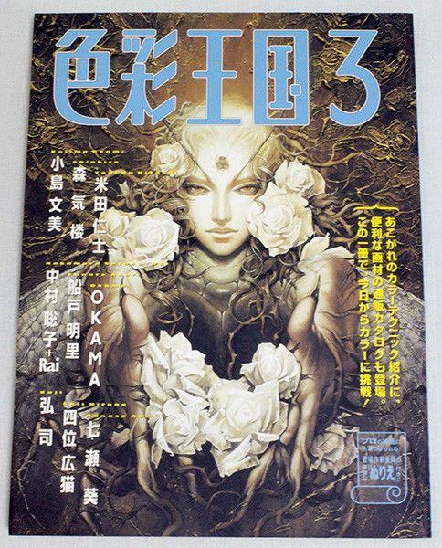 SHIKISAI OUKOKU 3  How to Paint Color,Draw Manga Japnese Magazine JAPAN ANIME