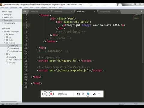 How To Includes Files In Index Php Filing Web Development Separation