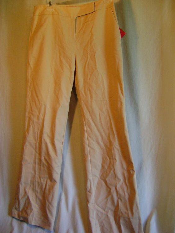 NWT OSCAR DE LA RENTA TAN DRESS PANTS SZ.6 LADIES NICE! $79 RETAIL #OscardelaRenta #CasualPants