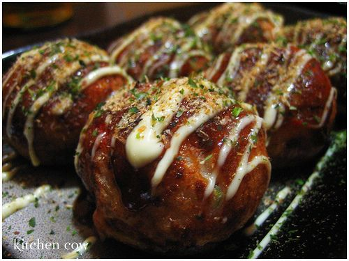 Takoyaki. Deep fried ocotopus balls. 1000x more delicious than it sounds.