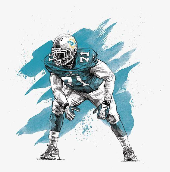 Football Athlete Watercolor Splash Png Image Nfl Football Art Sports Art Football Art