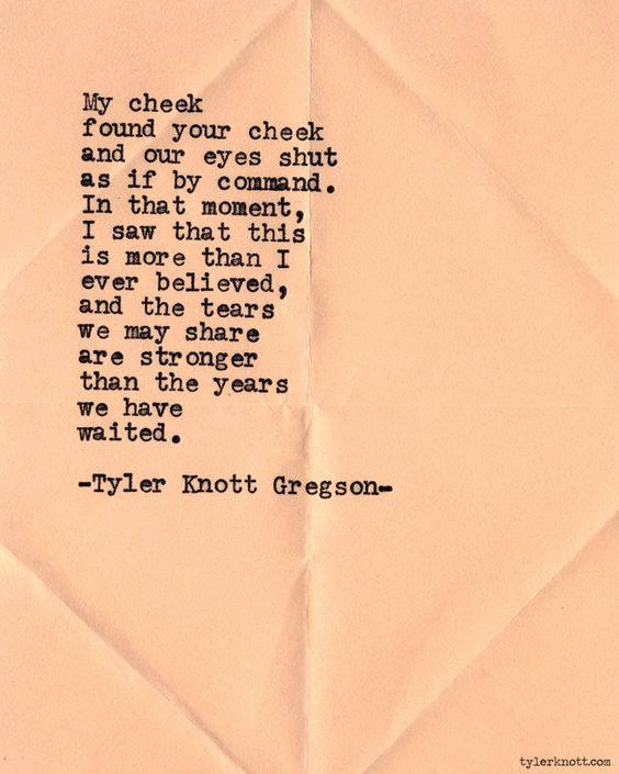 Typewriter Series #559 by Tyler Knott Gregson