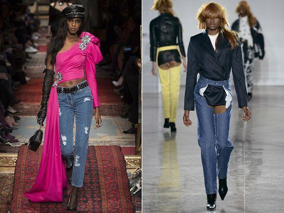 Рваные джинсы осень-зима 2016-2017 «Рваные» джинсы Мода на дыры, затяжки и рваные края никак не пройдет – хулиганский стиль слишком сильно пришелся по душе степенным офисным барышням. Причем рваные джинсы необязательно должны быть составляющей стиля гранж. Настоящие модницы носят их с туфлями на каблуках, в сочетании с дорогими сумками и аксессуарами.