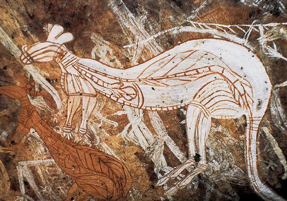 Kangaroo, Rock Art,  Oenpelli, Arnhem Land, Australia: