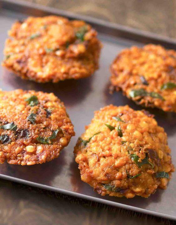 Aama Vadai (Masala Paruppu Vadai) Recipe - Spiced Fried Lentil Fritters