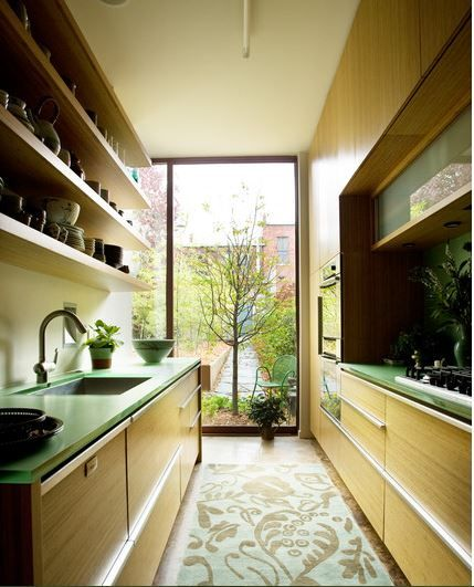 Most Common Kitchen Layouts-Galley or Corridor Kitchen