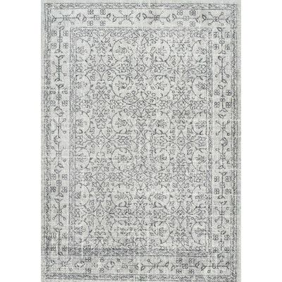 nuLOOM Vintage Pearlene Gray Area Rug & Reviews | Wayfair
