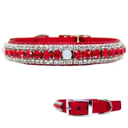 Rubies And Opal Jeweled Pet Collar Pet Collars Fancy Dog