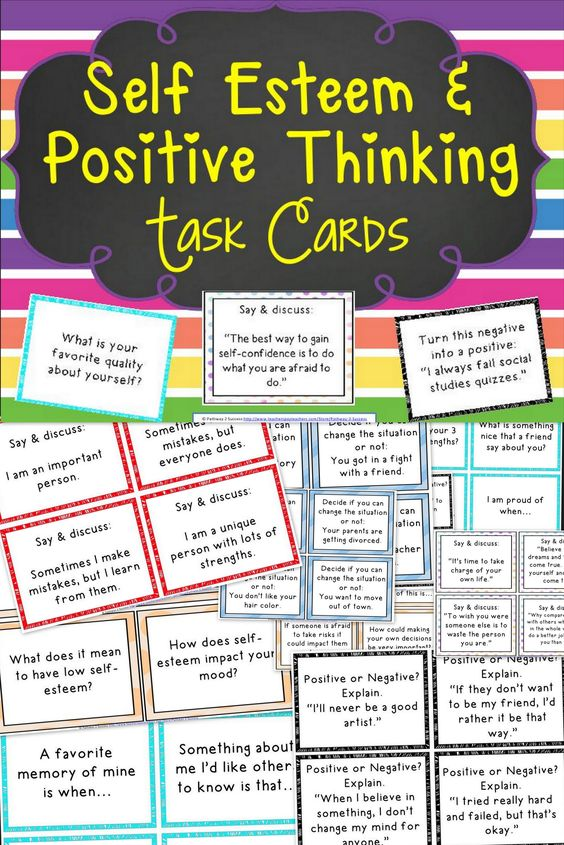 116 task cards focusing on improving self-esteem, confidence building, and encouraging positive thinking skills.