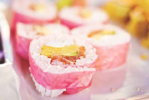 pink sushi wrappers
