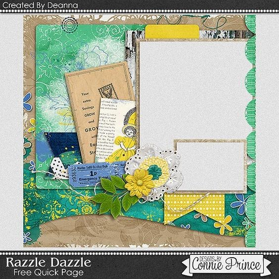 FREE Razzle Dazzle Quick Page Freebie By Deanna from Connie Prince