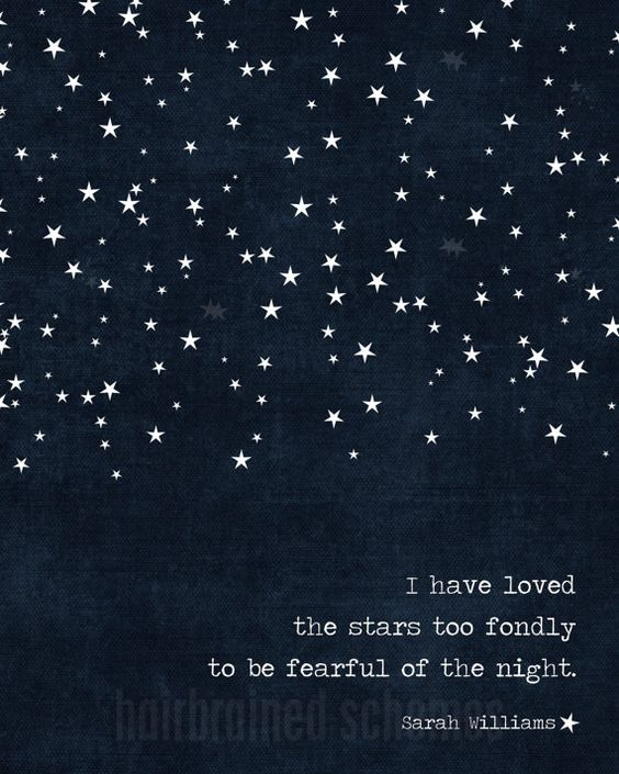 Starry Night Poster Dark Navy Blue: I Have Loved the Stars Too Fondly to be Fearful of the Night.  by hairbrainedschemes