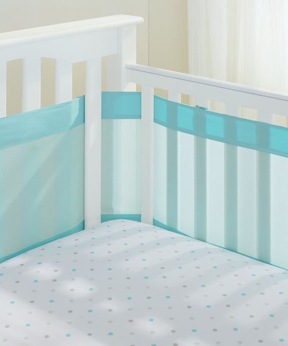 Look at this BreathableBaby Aqua Mist Airflow™ Mesh Crib Liner on #zulily today!