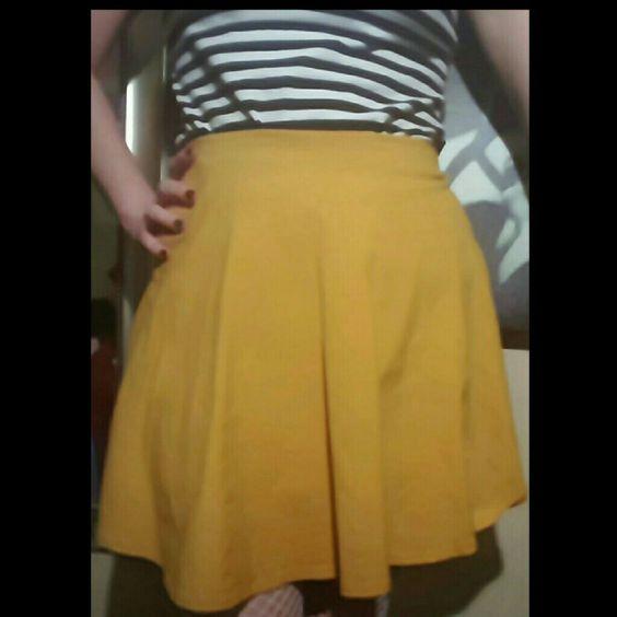 Mustard Yellow Skater Skirt