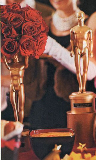 Make your own oscars with a ken doll and some gold spray paint.:
