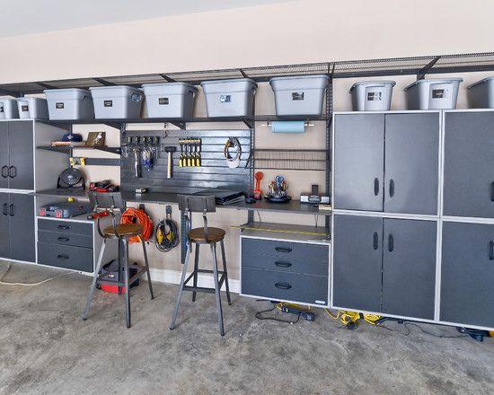 garage interior design   Garage cabinets  Garage interior and oncrete floors. garage interior design   Interior Design