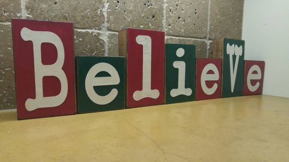 New item for sale in my shop.  Check out this item in my Etsy shop https://www.etsy.com/listing/251814339/believe-wood-blocks-christmas-decor