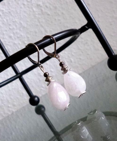 Ohrhänger - Ohrringe ♥ Edle Tropfen (Rosenquarz) - ein Designerstück von Your-Sweet-Dreams bei DaWanda