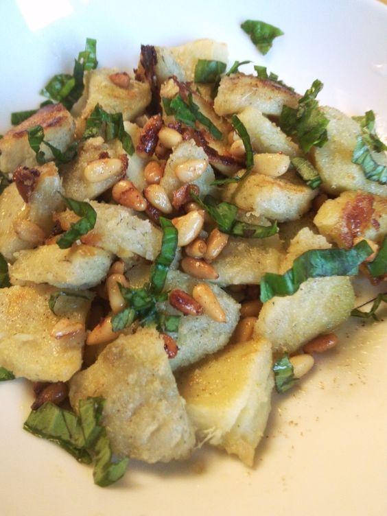 Poêlée de fonds d'artichauts à l'ail, au basilic et aux pignons de pin | Une abeille en cuisine: