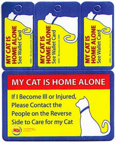 Home Alone Wallet Card The My Pet Is Home Alone Contact Information Is Designed For Emergency Personnel To Contact Your Family Or Frie Pets Pet Hacks Dog Care