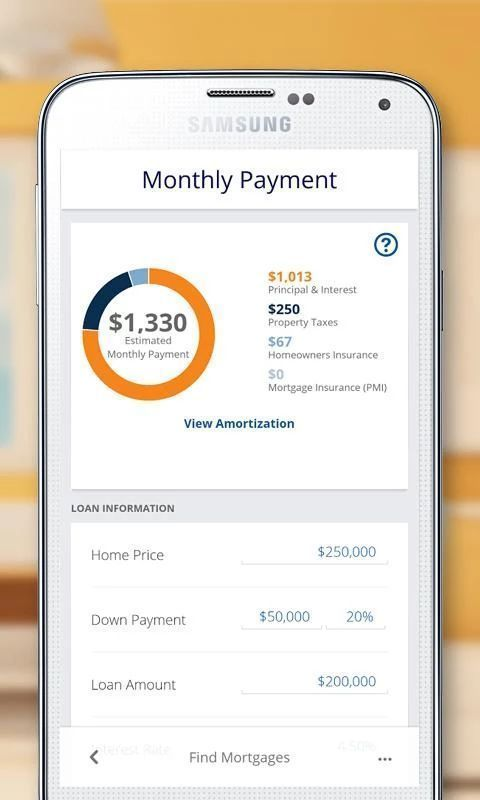 Mortgage Calculator Mortgage Loan Calculator Screenshot