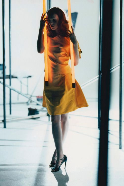 Karen Elson shot by Nick Knight for the July 2006 issue.