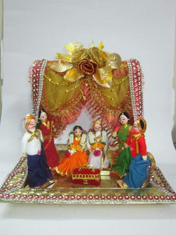 Indian Wedding Gift Decoration Ideas : explore nivi wedding wedding troaseau and more trays