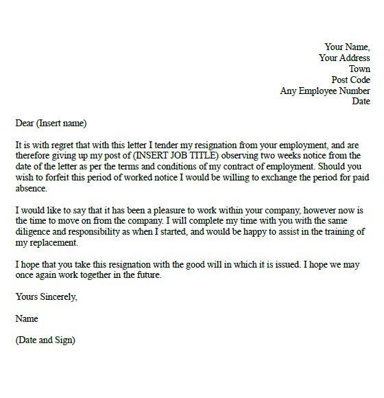 Mais de 25 ideias únicas de Two week notice letter no Pinterest - resignation letters no notice