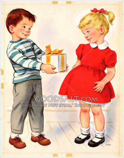 Donner cadeau à Little Girl