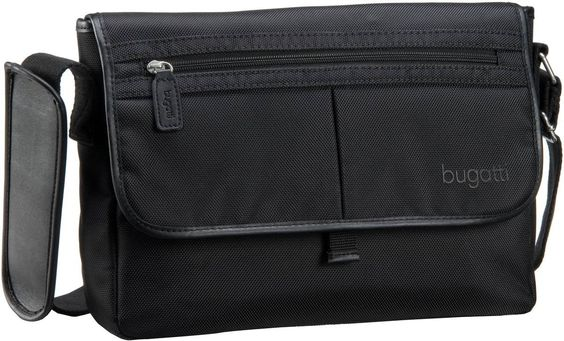 Bugatti Offroad Messenger Bag Quer Medium Schwarz - Umhängetasche
