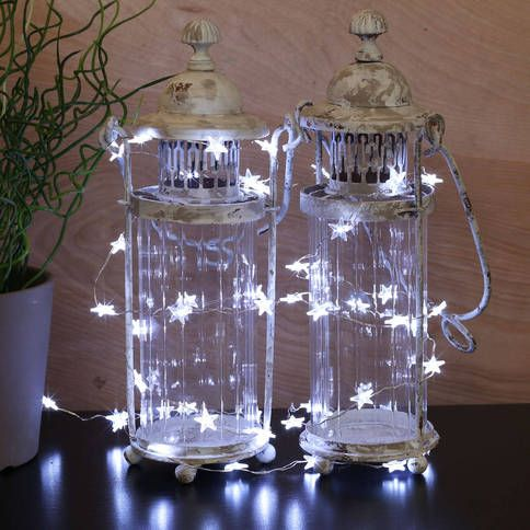 Whether stuffed inside your favorite mason jar, lining a window's frame, or wrapped around a vase full of decorative branches, these playful, submersible star-shaped micro LED string lights, with their pliable wire string are a perfect fit for even the most intricate of designs.