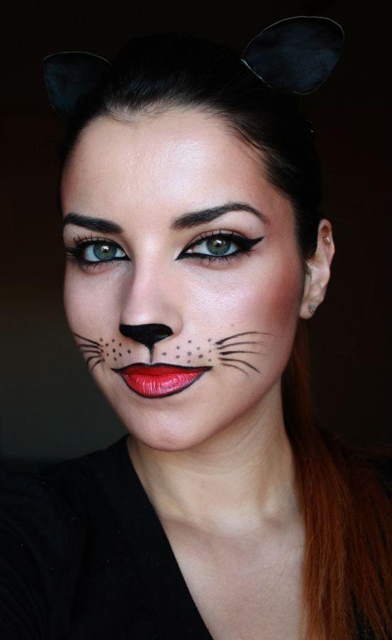 Catwoman mask makeup - halloween costume tutorial..