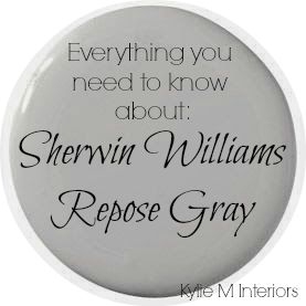 sherwin williams repose gray paint color. Undertones, LRV and what room to use it in. Great decorating ideas